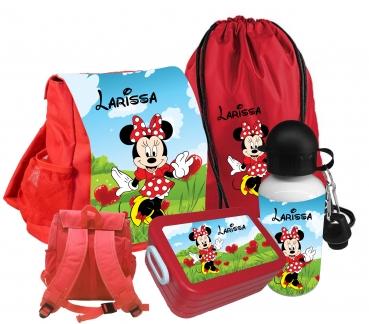 Kindergartenrucksack rot CHiCO Minnie mit Wunschname #3720