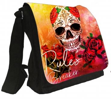 Damentasche Schultertasche Tasche Totenkopf Tattoo Umhängetasche #892