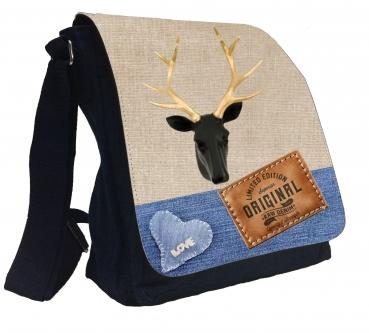 Damentasche Denim Vintage Schultertasche Tasche  Umhängetasche #MR57