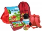 Preview: Kindergartenrucksack rot CHiCO Tiere mit Wunschname