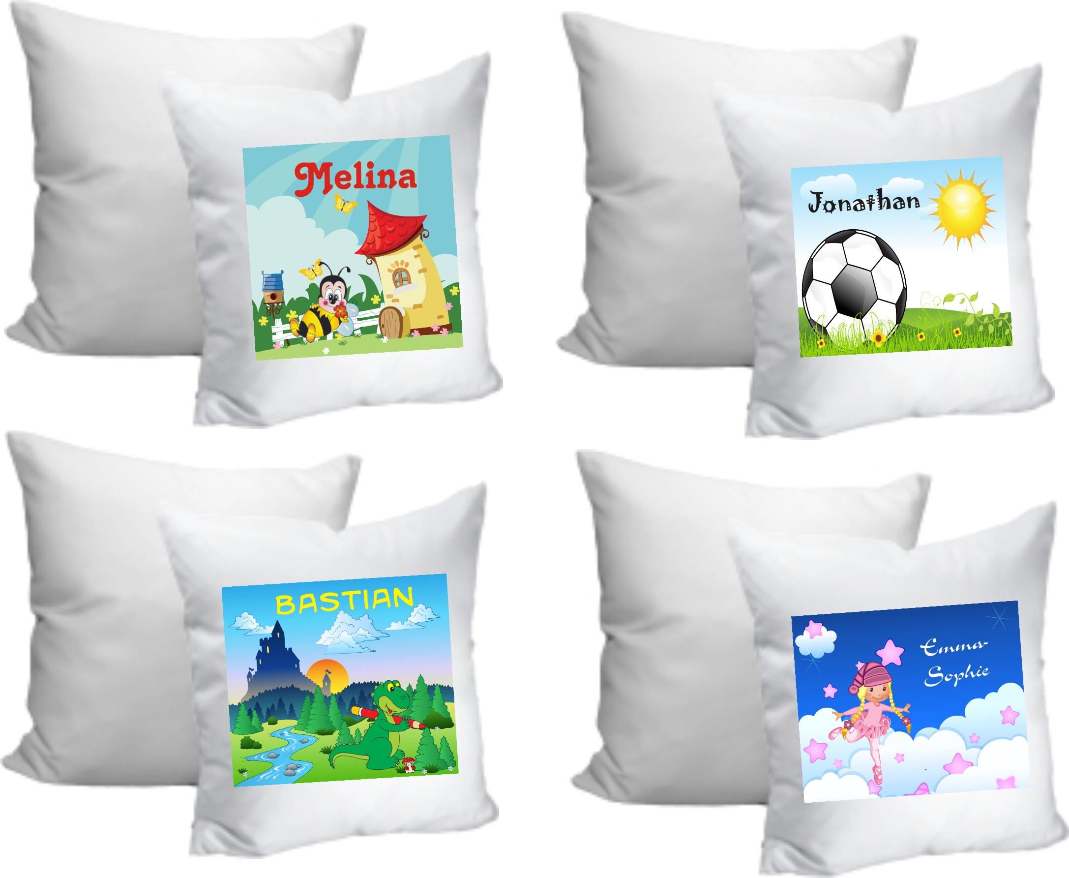 kindergartenrucksack mit namen kissen 35 cm mit name und motiv. Black Bedroom Furniture Sets. Home Design Ideas